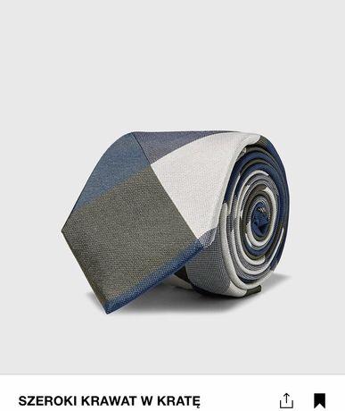 Żakardowy krawat ZARA nowy, z metkami, prezent