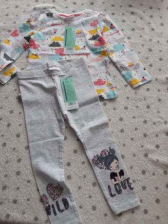 Nowe bluzeczka i legginsy zestaw rozm 92