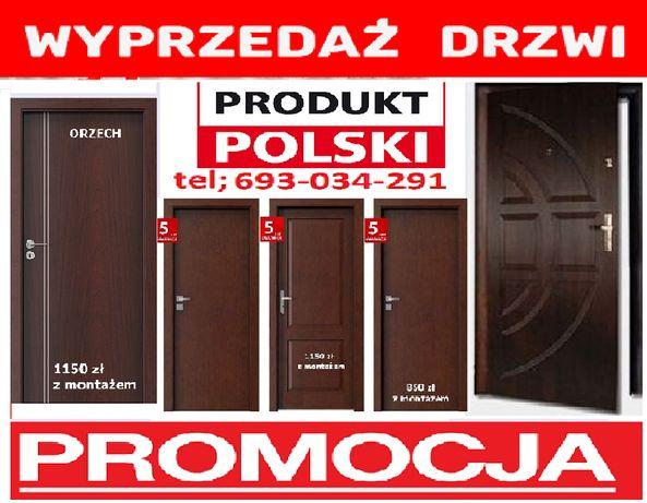 Drzwi szare-antracyt do mieszkania wejściowe-zewnętrzne z MONTAŻEM