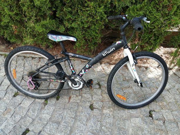Rower B'Twin 24cale dla dziewczynki.