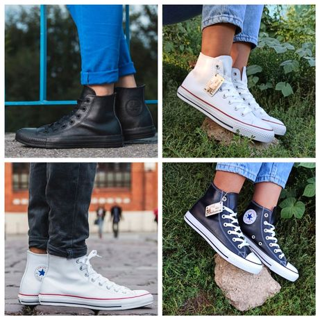 Sale Кожаные Converse All star высокие кеды кроссовки мужские женские