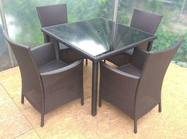 Meble Ogrodowe LIMA PANAMA Stół + 4 Krzesła Technorattan