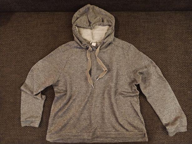 H&M Bluza ze srebrną nitką M
