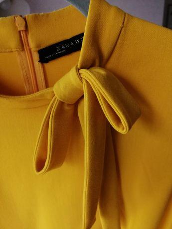 Żółta dopasowana sukienka Zara rozm L