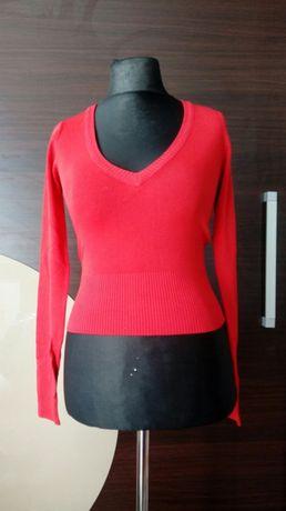 Czerwona bluzka długi rękaw S