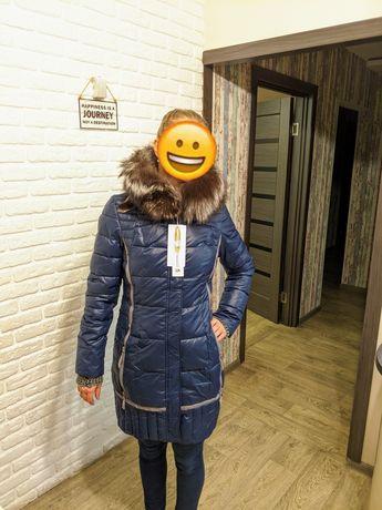 Женские пальто куртка зимняя , натуральный мех. Высокое качество, расп