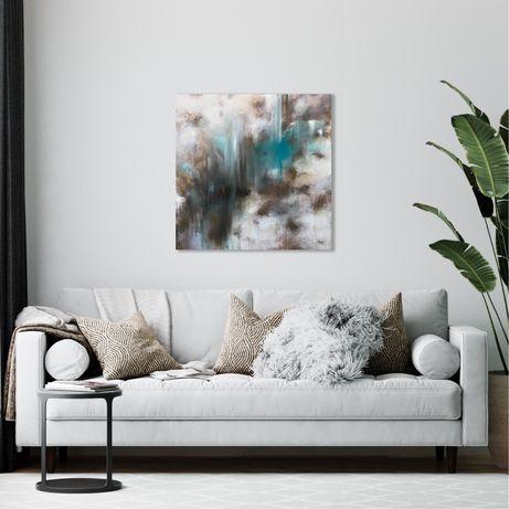 Картина абстракция акрил масло на холсте 50х50 см