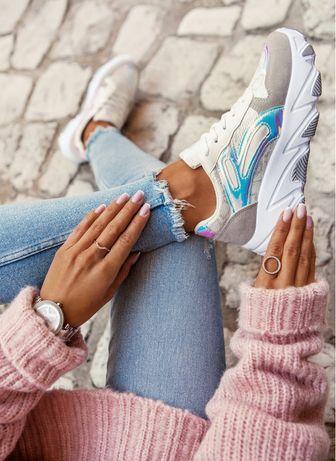 adidasy Białe sneakersy z holograficznymi wstawkami!!! Hit 2020 !!!