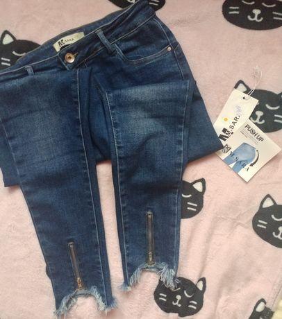 Spodnie jeansowe push up rozmiar 29