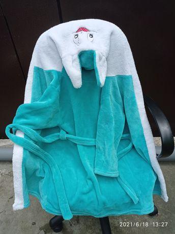 Банный махровый халат Зайка для девочки