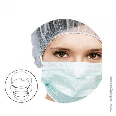 Máscara Cirúrgica 3 dobras   Com elástico - 50 unidades
