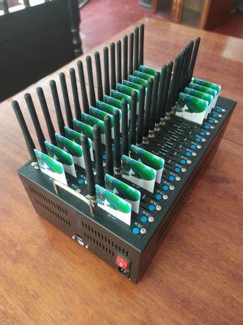 32 GSM шлюз, 32 портов/сим-карт, GSM модем, отправка смс, аналог GoIP