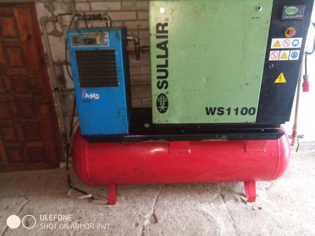 sprężarka kompresor śrubowy sullair ws 1100 fini 1,8m3 500 L