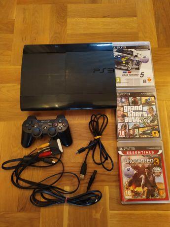 Konsola PlayStation 3 - PAD - 3 GRY - JAK NOWA!!!