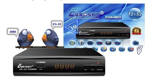 EuroSky ES-19 Combo T2+Спутниковый тюнер. Магазин. Гарантия.Прошитый