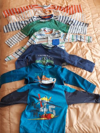 Paka bluzki r 80-86 dla chlopca 1,5 roku