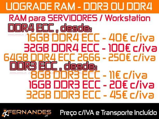 RAM para fazer UPGRADE ao seu Servidor / Workstation
