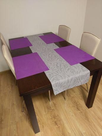 Stół jadalniany z krzesłami 160x90, cztery krzesła zestaw BRW