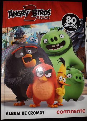 Caderneta completa Angry Birds.