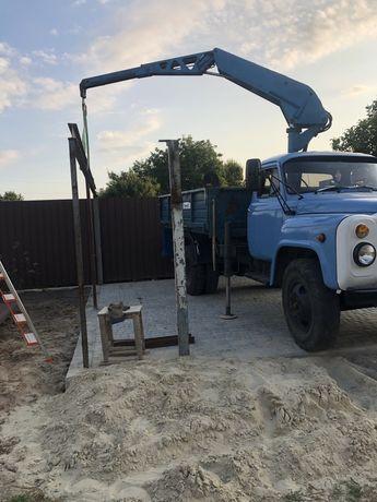 Самосвал-марипулятор на базе газ 53 дизель