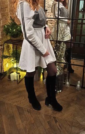 Платье белое с люрексом