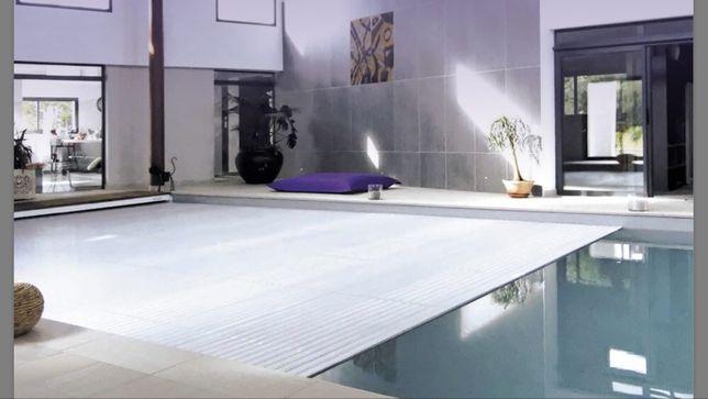Cobertura piscina dentro piscina Lisboa Cascais piscinas spas black