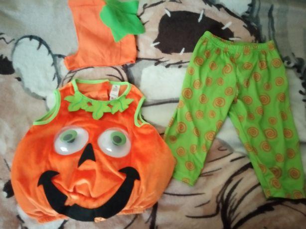 Костюм карнавальный тыква хеллоуин hellowin 9-12 мес р.74-80