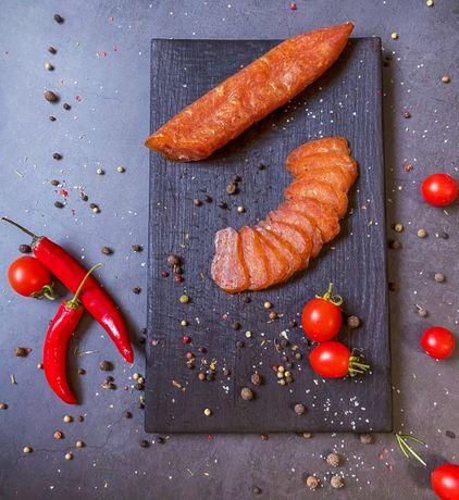 Курхан (сирокопчена ковбаса з цільних шматочків курячого філе)