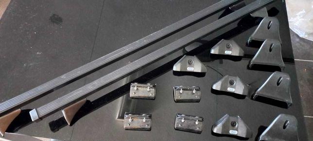 2 barras de tejadilho CRUZ SX-120 de Aço para Opel MOKKA Novas