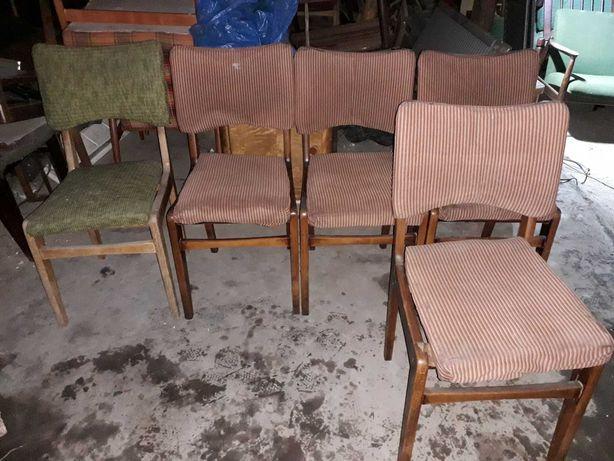 Krzesła typ 296 Var Hałas prl 5 sztuk