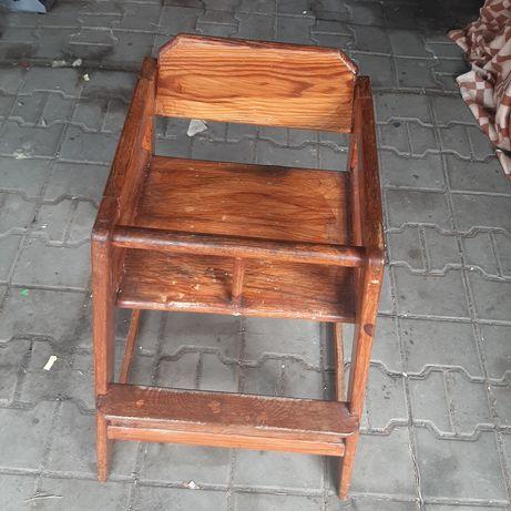 Krzesło do karmienia drewniane