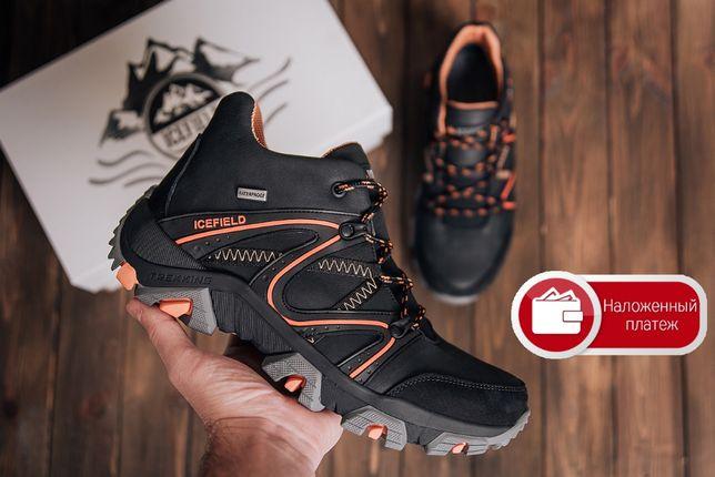 Мужские зимние кожаные ботинки IceField Gore-Tex Black Украина