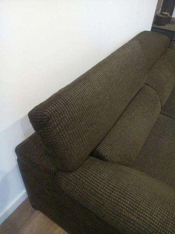 Sofá chaise longue castanho