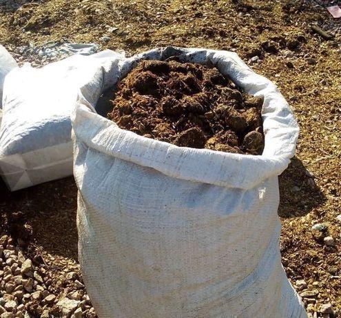 Перегной удобрение конский навоз компост /в мешках/ оптом/ машина объе