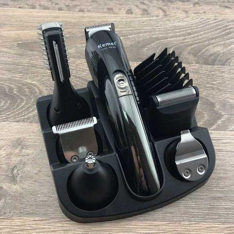 Машинка-триммер для стрижки волос, бороды, ушей, брить бороду