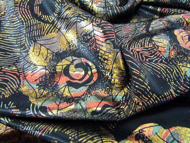kupon 5 m piękna włoska tkanina sukienki bluzki spodnie spódnice