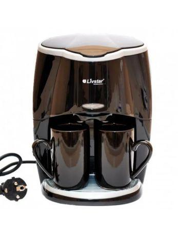 Капельная кофеварка Livstar LSU-1190 black на 2 чашки,850 Вт Маленькая