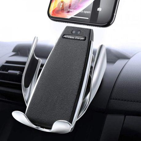 Автомобильный сенсорный держатель телефона с беспроводной зарядкой
