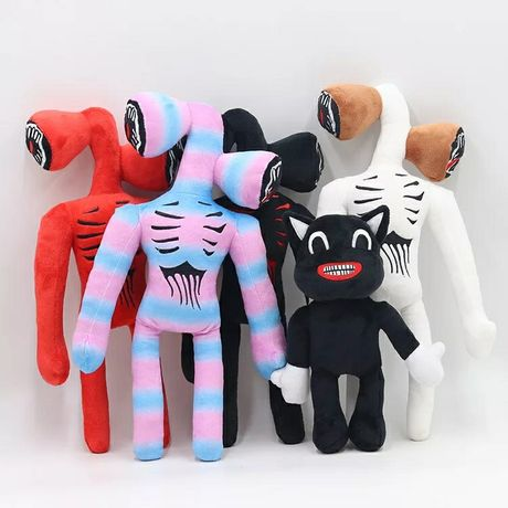 Мягкие игрушки Сиреноголовый и Мультяшный кот картун кэт