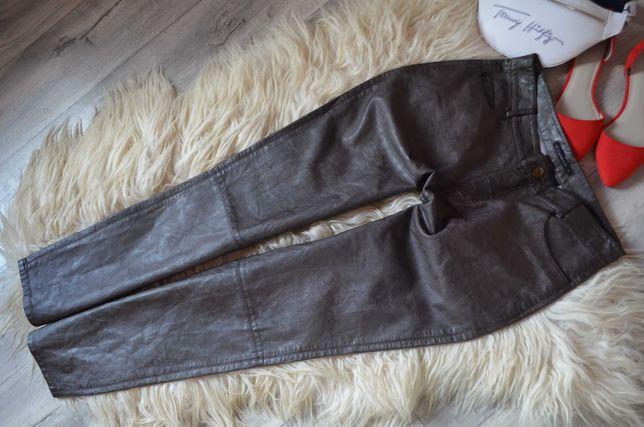 Expresso Spodnie z eco skóry brąz ideał 40