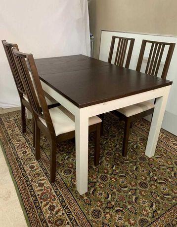 Mesa extensível + cadeiras