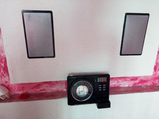 Radio + CD + iPod z dwoma głośnikami