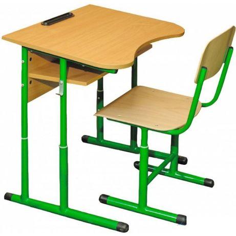 Парта + стілець одномістний регул. антис. 4-6 р.г. на круглій трубі