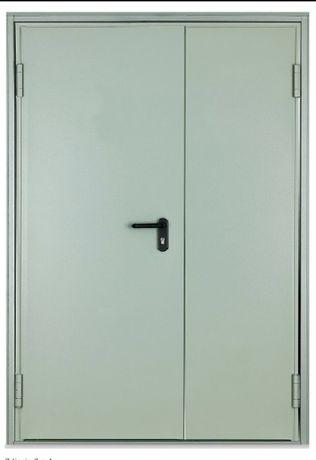 Drzwi stalowe dwuskrzydłowe 140x200