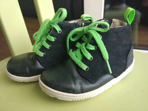 Buty buciki Clarks, skórzane, r.24 US 6.5 14,5cm