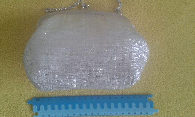 srebrna torebka torebeczka