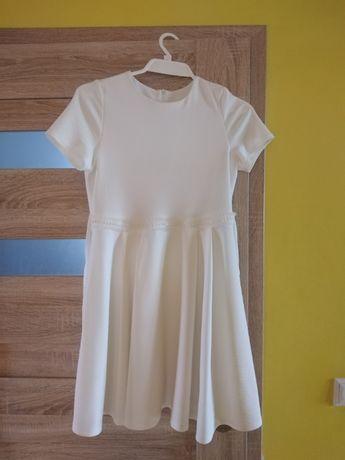 Sukienka dziewczęca biała rozmiar 140- 146 cm