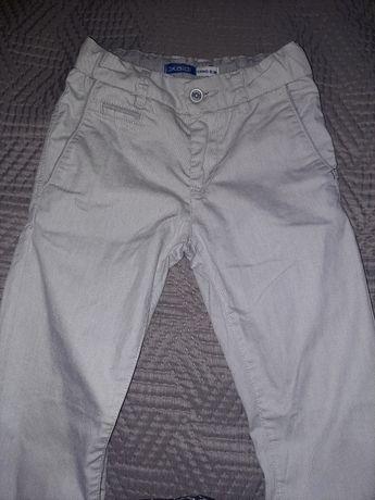 Spodnie jasne materiałowe wyjściowe chłopięce 128cm 8 lat