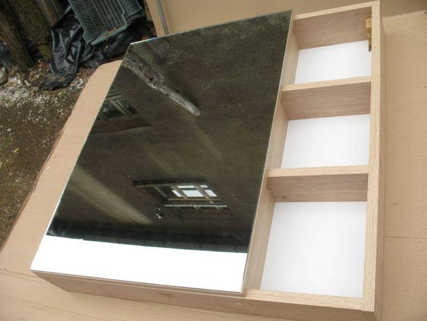 lustro łazienkowe z szafką 70 x 72 x 13