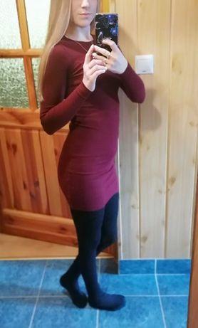 Sukienka mini bordowa